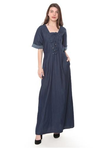 et cetera blue Chambray Maxi Dress 64683AA939023DGS_1