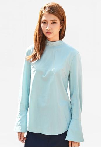 NAIN blue Bell Sleeve Blouse NA323AA0RU7RMY_1