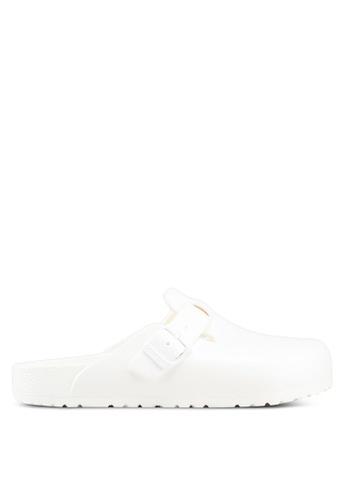 Birkenstock white Boston EVA Sandals D9818SHE35FA94GS_1
