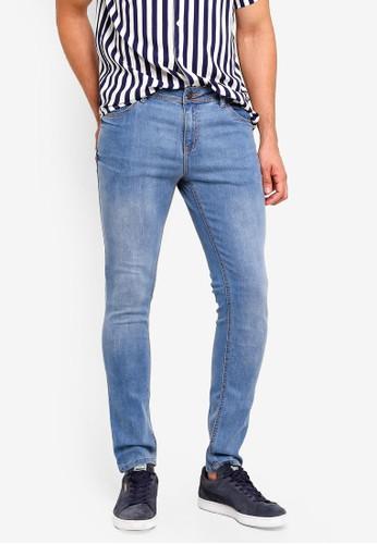 Penshoppe blue Slim Fit Mid Rise Jeans 51CCBAA9C7FDAEGS_1