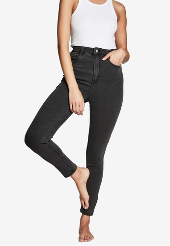 Cotton On black Ultra High Super Stretch Jeans 9C123AA5ED82FEGS_1