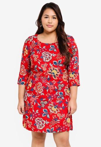 Junarose red Plus Size Fadina Dress E9B08AA5BE9095GS_1