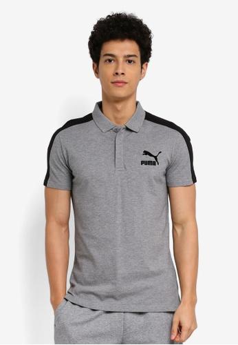 Puma grey Archive T7 Polo Shirt PU549AA0SWHBMY_1