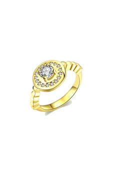 Royal Diamond Gold Ring Size 7