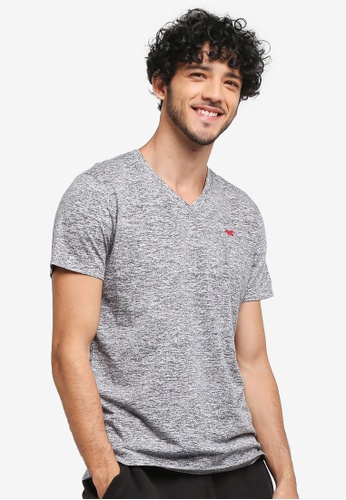 Hollister grey Core Icon V-Neck T-Shirt D070AAA49C12E7GS_1