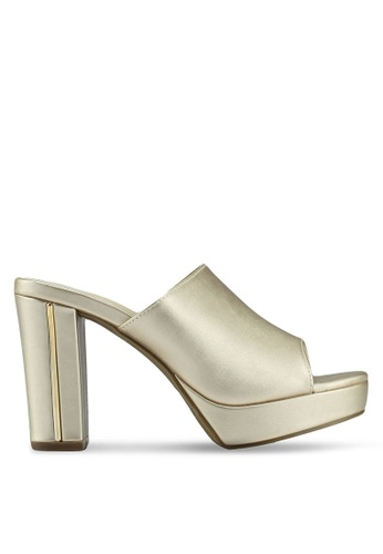 e85632f2daa VINCCI gold Slide On Heels 211A2SHCCCABBFGS 1