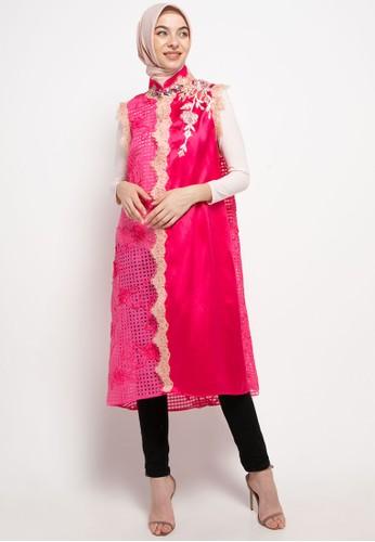 LUIRE by Raden Sirait pink Ms Coat Monic Midi Kensi Top 0F92DAA95DB7A1GS_1