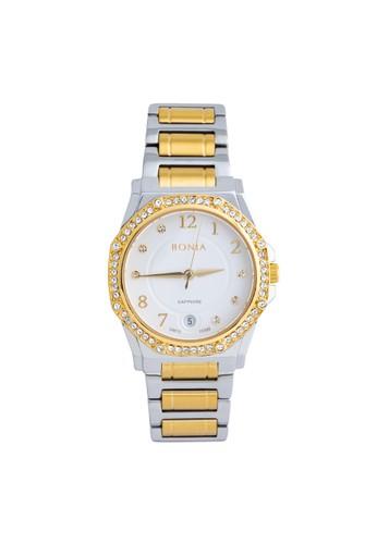 BONIA gold and silver Bonia - BP10395-2115S - Jam Tangan Wanita - Silver Gold 7B04CAC9809B52GS_1