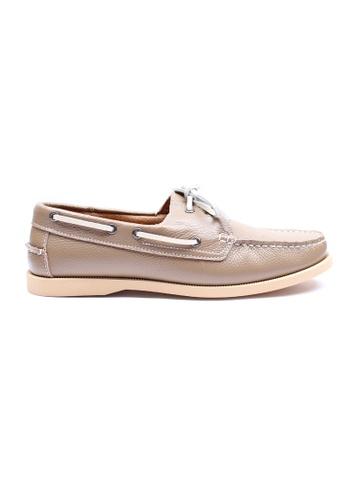 Moley brown Genuine Leather Classic Boat Shoe MO329SH01EICSG_1