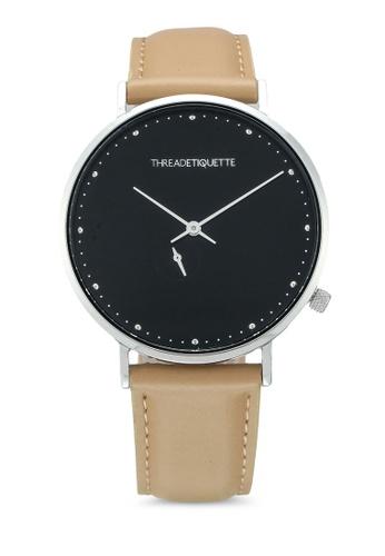 Thread Etiquette brown Chrono-Georgio Timepiece D9CD8AC184F1A7GS_1