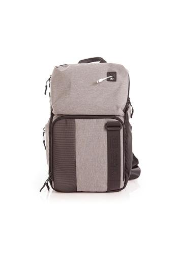 RYZ grey RYZ Crossbody Sling Grey Backpack. 9720EAC1A554D8GS_1