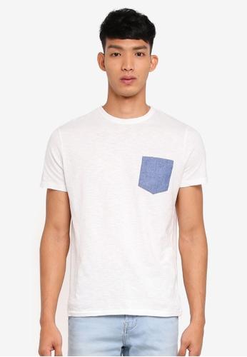 OVS 藍色 短袖口袋T恤 E5F0FAA9EACEFDGS_1