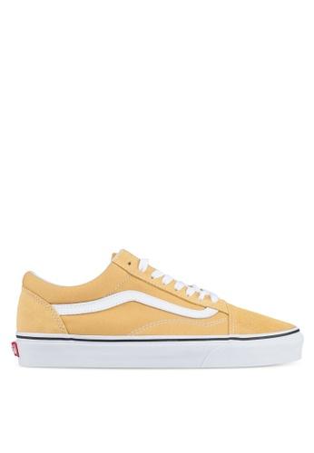 VANS white and yellow Old Skool Sneakers VA142SH0SWNDMY_1