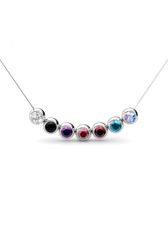 Buy her jewellery 7 days moon pendants set embellished with her jewellery multi and silver 7 days moon pendants set embellished with crystals from swarovski aloadofball Choice Image