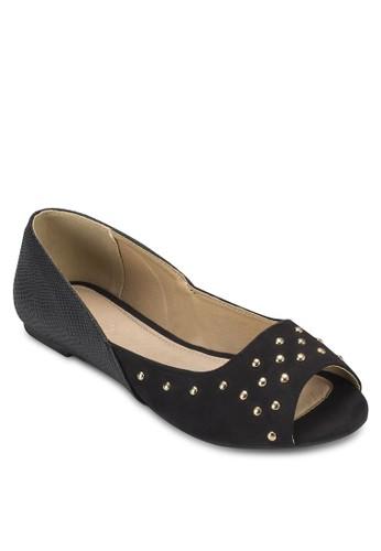 Lilah 鉚釘露趾平底鞋esprit 折扣, 女鞋, 鞋