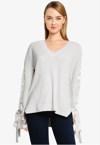 French Connection grey Caballo Lace Knit Jumper FF8F3AAF5C2961GS_1