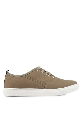 JAXON green Canvas Casual Sneakers B8962SHE5385E0GS_1