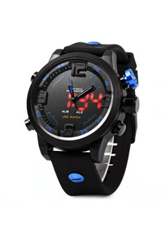 Military Digital Black Rubber Strap Sports Watch OS-AD2820