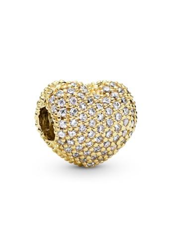 Pandora gold Pandora Pavé Heart Clip Charm 480F6AC944255AGS_1