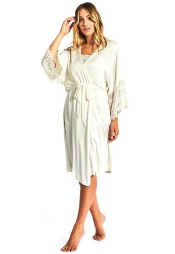 蕾絲拼接esprit 價位新娘長袍, 服飾, 睡衣