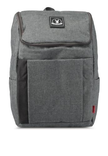 Playboy grey Playboy Casual Backpack PL371AC0SJZZMY_1