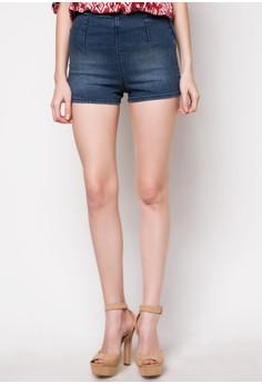 Stretch Denim Shorts