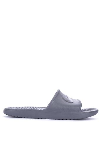 Nike grey Men's Kawa Shower Slide Sandals 303E4SHA258C44GS_1