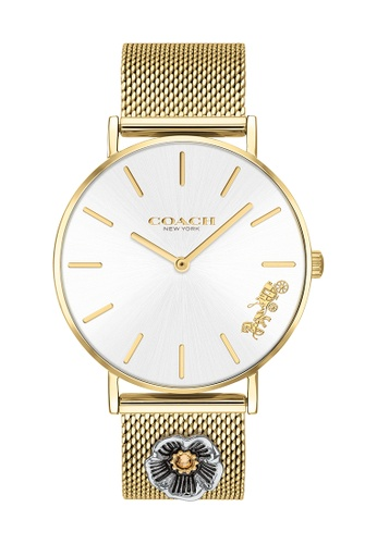 Coach silver Coach Perry Silver White Women's Watch (14503337) 2F05BAC173B976GS_1