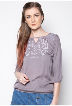 Elbow Sleeves Blouse