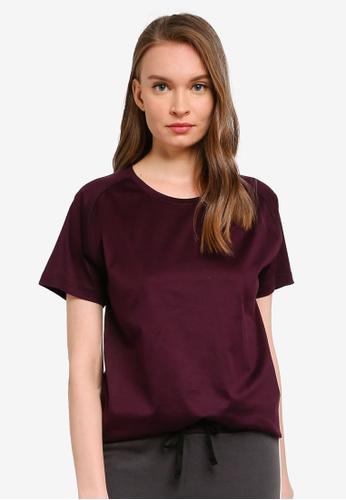 UniqTee purple Raglan Crew Neck T-shirt 3CF2EAA99B229EGS_1