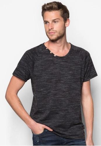 Cadman 鈕扣圓領TEE, 服飾, 素色esprit outlet台北T恤