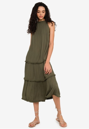 d43fd4a6ed Buy Miss Selfridge Rope Stripe Beach Maxi Dress | ZALORA HK