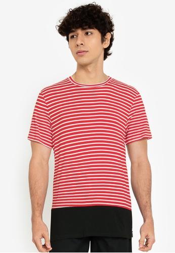 ZALORA BASICS multi Quarter Stripes T-Shirt 75004AA3C23208GS_1