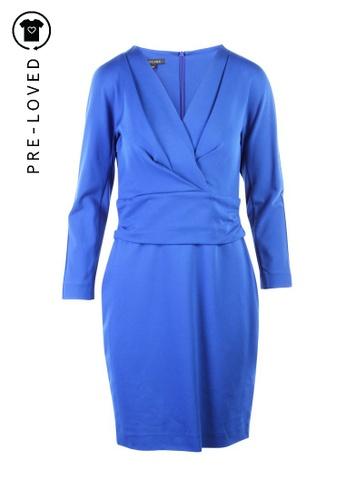 Escada blue Pre-Loved escada Long Sleeves Midi Dress 69252AA2CB4942GS_1