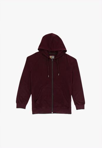 FOREST purple Forest Stretchable Sweatshirt Cotton Terry Hoodie Men Jacket - Jaket Lelaki - 30398 - 70DkPurple 0D750AA1AF863CGS_1