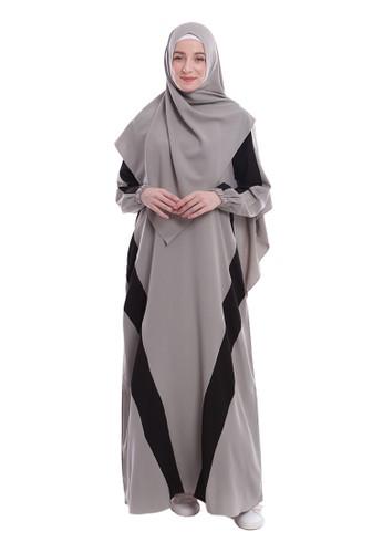 Yanna Azwar green Sofiyah Dress Set Hijab-Green 7908CAA3AF6AD6GS_1