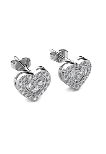 Her Jewellery silver Brilliant Love Earrings -  Made with premium grade crystals from Austria HE210AC0GRCLSG_1