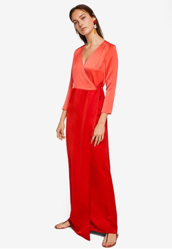 Mango orange Wrapped Gown 5F3D8AA7E8F583GS_1