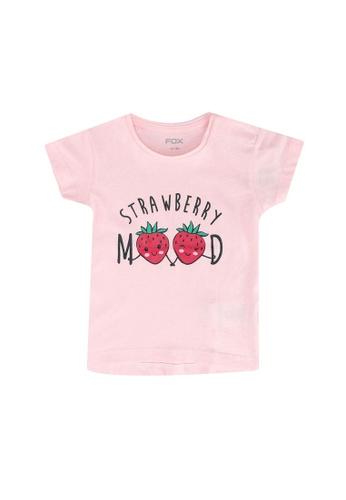 FOX Kids & Baby pink Crop Sleeve Tee E93EDKAD445D4CGS_1