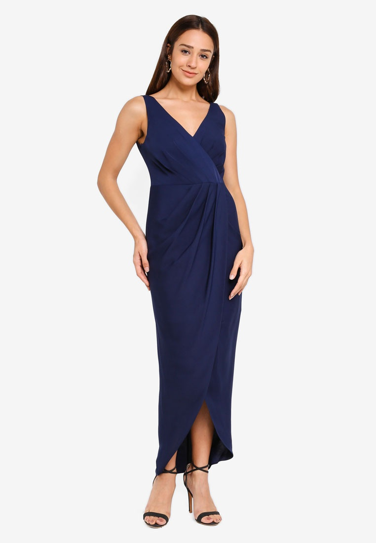Blue Forever Wrap New Dress Victoria Maritime wEXqUx1Z