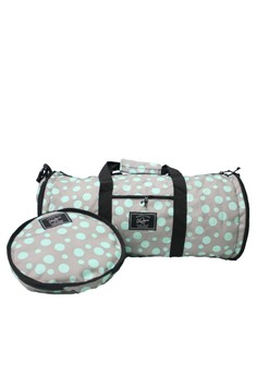 Mint Polka Duffle Version 2.0 (with Shoe Compartment)