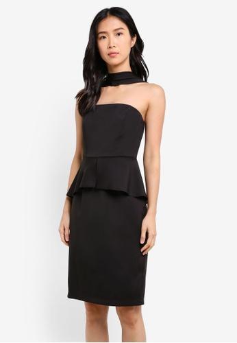 ZALORA black Reverse Halter Neck Dress 12DFCAA0514928GS_1