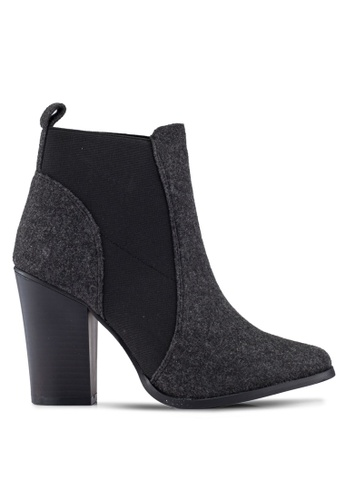 ONLY black ONLY ONE PU Heeled Booties ON573SH0S46PMY_1