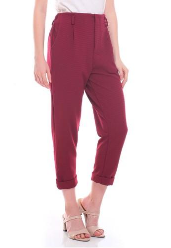 JOYFULIE red Doreen Pants Maroon AAADCAA069F3B6GS_1