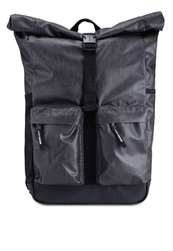 SUPERDRY black Roll Top Tarp Backpack 3CAB5ACAA45F93GS_1