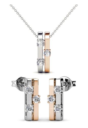 Her Jewellery multi Swarovski® Crystals - Bonding Set (18K White Gold & Rose Gold Plated) Her Jewellery HE581AC0RAZCMY_1