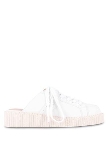 Something Borrowed white Slip On Sneakers 5BF17ZZ806FE96GS_1