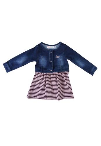 Babybol pink Denim Dress 40A7EKA0A4E31EGS_1