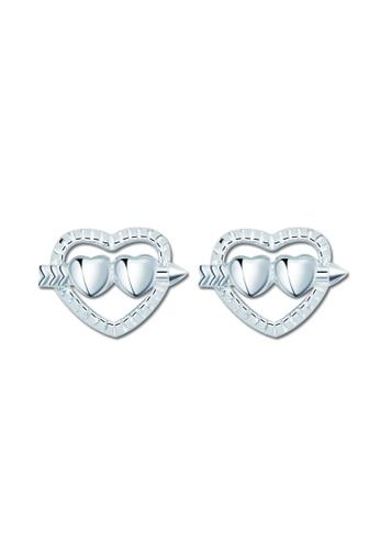 SC Tom Silver silver Arrow Heart Stud Earring SC872AC83VNSPH_1