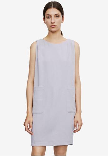URBAN REVIVO grey Casual Dress 2E5F5AA8AE16F2GS_1